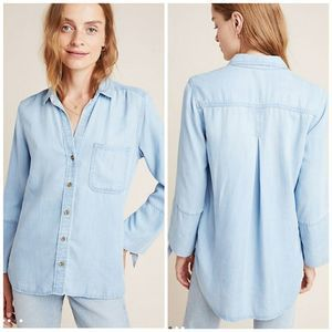 cloth & stone Lena Chambray Button Front Shirt S